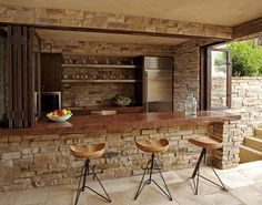 Backyard Bar/BBQ-I like that you could seal it away from the elements.