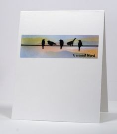 friendship card with birds on a wire by Heather Telford