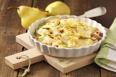 Kartoffelgratin mit Birnen. - Gegensätze ziehen sich an! #experiencefresh