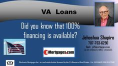 http://ift.tt/1Mbo7Hn Petaluma VA Mortgage Rates - Call Jehoshua Shapiro 707-763-6290-VA home loan expert. We know the VA home loan requirements. We provide our services for VA refinancing and purchase Veterans home loans. We have the lowest VA loan mortgage rates in California. On our website you can apply for VA home loan. You can Access VA loan calculator and other mortgage calculators. Inquire about VA loan limits. You can obtain VA home mortgage even if you had bankruptcy  short sale or…