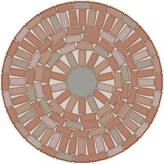 I think I may attempt something similar to this in the center of the flagstone patio I am building next year. (small brick patio instructions)