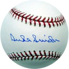 Duke Snider Autographed MLB Baseball PSA/DNA . $59.00. This is a MLB baseball that has been hand signed by Duke Snider. The autograph has been certified authentic by PSA/DNA and comes with their sticker and matching certificate. Los Angeles Dodgers, Dna, Balls, Baseball, Certificate, Sports, Sticker, Outdoors, Shop