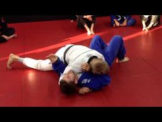 Side control escape against tight top pressure - YouTube