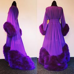 Extra lush and plush purple silk chiffon and marabou, super yummy and snuggly... (and surprisingly light!)