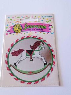 Vintage Noël SANDYLION STICKER 1 ARC Nº 3 90er Ans RAR