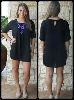 Black 3/4 Sleeve Dress SOLD OUT