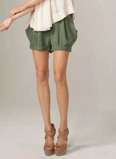 Petal Short Hunter Green - James Jeans - $141 These shorts!