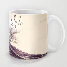 Lone tree (I) Mug by Viviana González - $15.00
