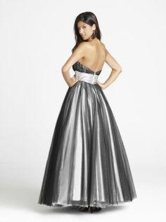 Empire Strapless Belt Floor-length Tulle Prom Dresses