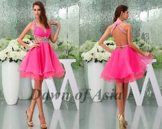Pink prom dress  short prom dress / pink cocktail by DawnofAsia, $128.00
