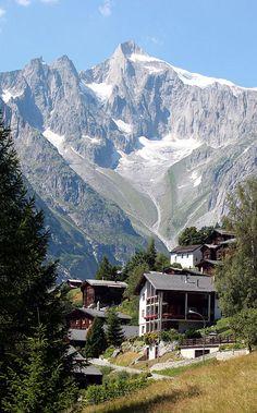 Ried, Bellwald, Valais - The mountain Gross Wannenhorn
