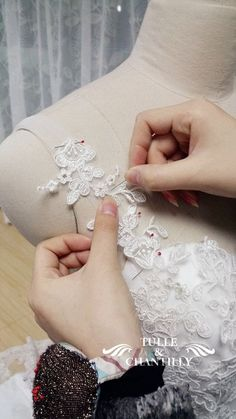 {Design Your Own Wedding Dress} Delicate Customized Mermaid Long Wedding Dress with Low Back | http://www.tulleandchantilly.com/blog/design-your-own-wedding-dress-delicate-customized-mermaid-long-wedding-dress-with-low-back/