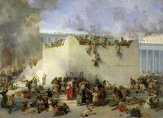 Image: Francesco Hayez - Destruction of the Temple of Jerusalem (oil on canvas)