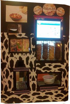 Cereal and milk vending machine