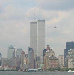 Seconds before the 1st plane hit the north WTC tower at 8:46 a.m.