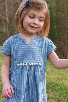 Hide-and-Seek Dress with pompom trim