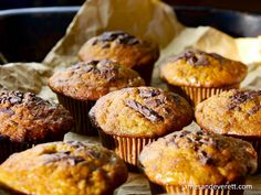 The flavor of naturally sweet ripe bananas make a flavorful contrast with chucks of dark chocolate and tart currents in these moist and delicious muffins. Nut Allergies, Frozen Banana, Chocolate Flavors, Muffins, Yummy Food, Favorite Recipes, Snacks, Baking, Muffin