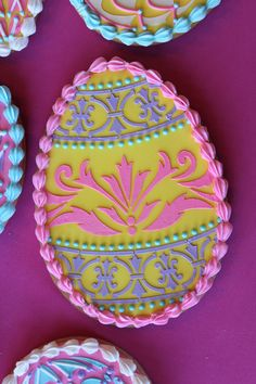 Fabergé Egg Cookie Closeup by Julia M. Usher