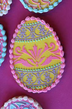 Fabergé Egg Cookie Closeup by Julia M. Usher