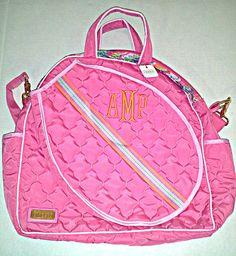 Slam Glam - Cinda B Calypso Tennis Tote II Bag, $149.00 (http://www.slamglam.com/cinda-b-calypso-tennis-tote-ii-bag/)  Very pretty bag! #cindabtennistotes #tennisbags #tennistotes #monogrammedtennistotes
