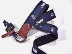 Polo Ralph Lauren nautical rope belt whale anchor size large new with tags #PoloRalphLauren