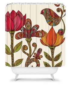DENY Designs Valentina Ramos Garden Flowers Shower Curtain - Shower Curtains at Hayneedle