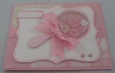 Baby girl rattle shaker card