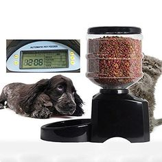 Automatic Cat Feeder Durable Large Electric Pet Dry Food Container LCD Display #PetFeeder