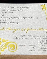 Wording your wedding invitation with 2 languages is not a problem at julie spiros bilingual greek wedding invitations filmwisefo