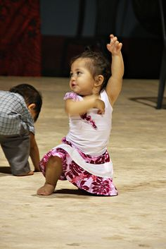 Flamenco baby dancer