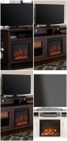 Ameriwood Home Orchard Heights Electric Fireplace TV Stand – White - fireplace tv stand Electric Fireplace Tv Stand, White Fireplace, Home, Haus, Homes, Houses, At Home