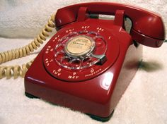 1955- Had the same phone growing up. But the colour was beige, funny cause it was not in the 50's but in the 80's.
