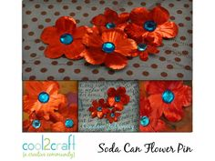 In this video, Candace Jedrowicz shows you how to punch, color and glue soda can flowers to create a quick and easy pin. Featured on Cool2Craft TV. For more ...