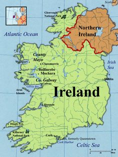 Physical features of ireland ireland pinterest ireland and ballinrobe maps county mayo ireland sciox Images