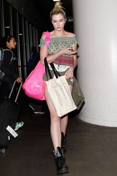 The new celebrity airport style staple? Short shorts. See how 24 stars, including Ireland Baldwin, styled them while traveling.
