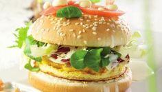 Njamburger met garnaaltjes