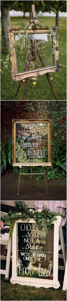 Wedding Decorations » 27 Vintage Mirror Wedding Sign Decoration Ideas » ❤️ See more: http://www.weddinginclude.com/2017/07/mirror-wedding-sign-decoration-ideas/ #weddingdecoration #weddingideas