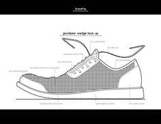 nice illustrator sketch of a shoe