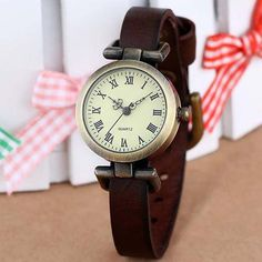 """*Womens Genuine Leather Watch """"vintage style dress watch"""". Check out this price: https://shopitwow.com/products/womens-genuine-leather-watch-vintage-style-dress-watch"""