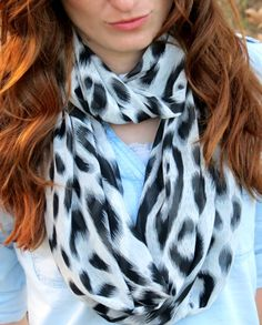 I LOVE this Scarf Leopard Infinity Scarf Black by SahmaranStyle, $19.00