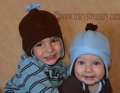 Tracy's Treasury: Fleece Hat with Ear Flaps - Tutorial and Printable Pattern!