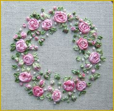 Wonderful Ribbon Embroidery Flowers by Hand Ideas. Enchanting Ribbon Embroidery Flowers by Hand Ideas. Embroidery Designs, Ribbon Embroidery Tutorial, Rose Embroidery, Silk Ribbon Embroidery, Cross Stitch Embroidery, Embroidery Patterns, Embroidery Thread, Embroidery Supplies, Embroidery Tattoo