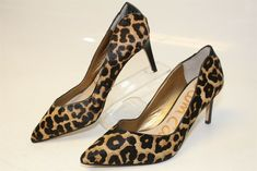 67e830535 Sam Edelman MISMATCH 9.5 9 M Womens Orella NEW Leopard Print Fur Pumps Shoes   fashion