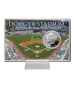Look what I found on #zulily! Los Angeles Dodgers Dodger Stadium Silver Coin Card #zulilyfinds