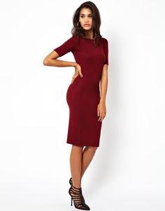 Club L Essentials Off Shoulder Midi Dress