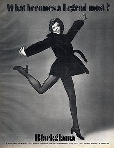 "Carol Burnett - Blackglama Mink ""What Becomes A Legend Most?"" Ad Campaign (1973)."