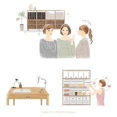 : 『40歳からの「永遠の美」を手に入れる方法』のカバーイラスト Illustrators, Kids Rugs, Home Decor, Decoration Home, Kid Friendly Rugs, Room Decor, Illustrator, Home Interior Design, Illustrations