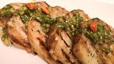 Grillet sellerirotbiff med persillepesto Frisk, Kefir, Pork, Meat, Chicken, Foods, Kale Stir Fry, Food Food, Pigs