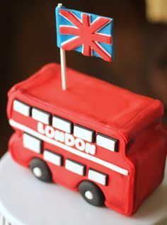 Items similar to Fondant bus cake topper. This fondant topper can be made as fondant school bus. Perfect for your transportation party. London Party, London Cake, Fondant Toppers, Fondant Molds, England Cake, Bus Cake, Transportation Party, London Bus, Cute Cakes