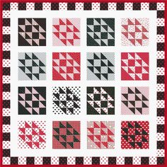 Flighty designed by Robert Kaufman Fabrics. Features Sevenberry: Petite Classics & Classiques, shipping to stores August 2016. FREE pattern will be available to download from robertkaufman.com in June 2016. #FREEatrobertkaufmandotcom